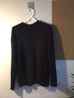二手 黑色 薄 高領毛衣