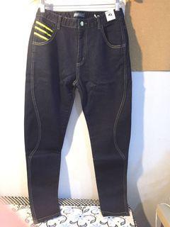 新 深藍 彈性 牛仔褲 薄 大碼
