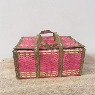 收納盒 野餐盒 提箱 收納 草蓆 特別