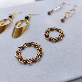 韋薇牌手作飾品- | 黃銅 | 零除零o÷o鍊戒 素款 黃銅鍊戒