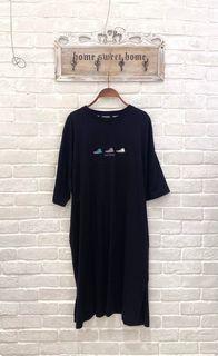 (全新)日單 Converse黑色洋裝/長T