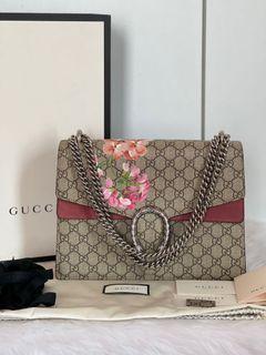 Authentic Gucci GG Canvas Dionysus Blooms in Medium