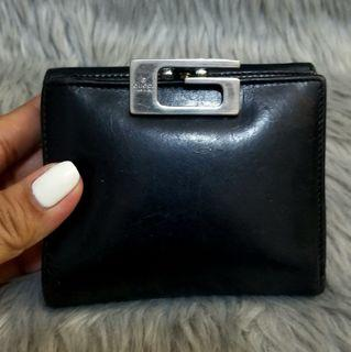Authentic Vintage Gucci Bifold Calfskin Wallet with Coin Purse