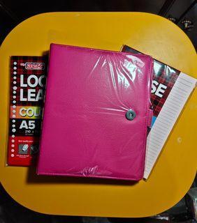 Binder Polos Pink Terang A5 20 Ring
