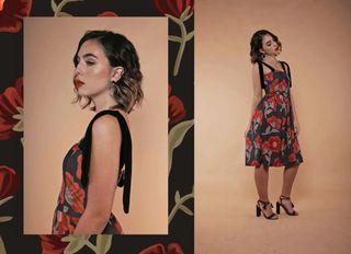 BNEW Neon Island Rose Print Dress Snall