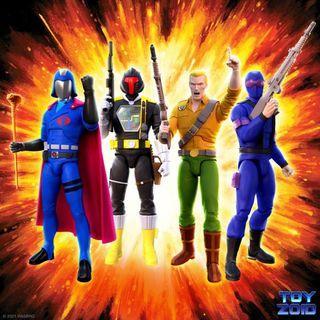 GI Joe Ultimates Wave 1 Duke Snake Eyes Cobra Commander B.A.T.