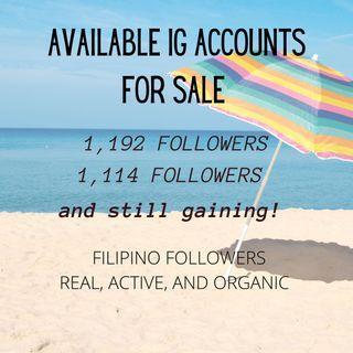 Instagram (IG) Accounts For Sale