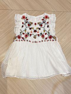 Like New Zara Embroidered Blouse