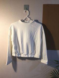 New 短衛衣 厚身 白色