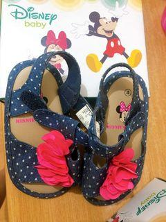 Original Disney Baby Sandals  Size 4 from US. Outgrown by my baby girl. Slightly used.  1-3 years old