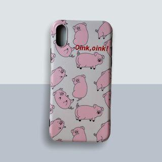 Pig Oink iPhone X / XS Case - Pink