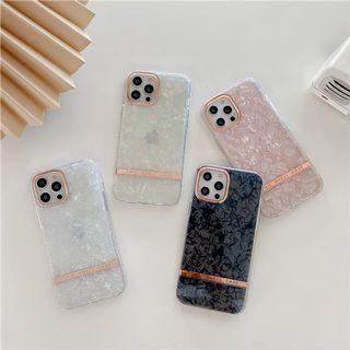 (SH)IPhone殼SE2/7/8/P/XS/R/11/12/Mini/Pro/Max : 電鍍邊貝殼紋