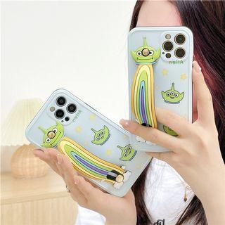 (SH)IPhone殼SE2/7/8/P/XS/R/11/12/Mini/Pro/Max : 史廸仔配腕帶