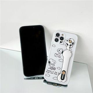 (SH)IPhone殼SE2/7/8/P/XS/R/11/12/Mini/Pro/Max : 史努比配腕帶