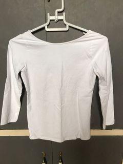 Zara White Cottony Basic wear