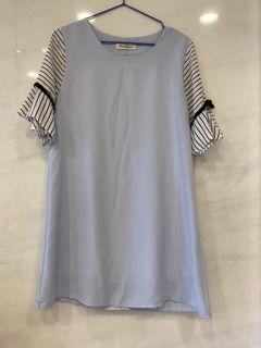 藍色蝴蝶結洋裝#東京