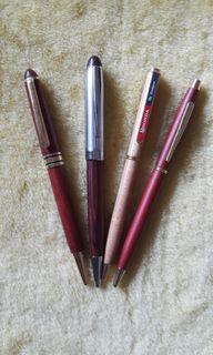原木製筆桿原子筆4支