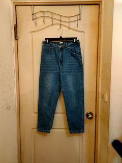 50% fifty percent高腰寬鬆男友褲牛仔褲