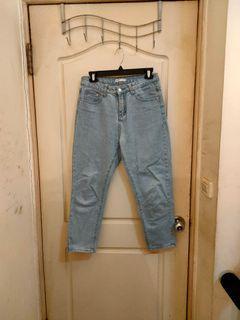 50% fifty percent淺藍寬鬆男友褲牛仔褲