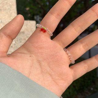 櫻桃串珠戒指🍒