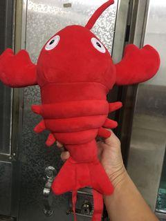 龍蝦玩偶背包 錢包 約30公分長