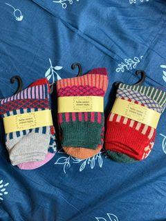 民族風厚襪 長襪 可愛圖騰