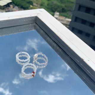 串珠戒指組 手作戒指 珍珠