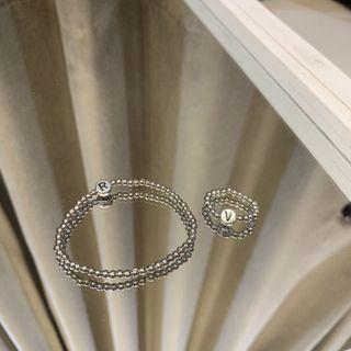 古銀字母串珠戒指 客製化串珠戒指 串珠手環
