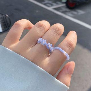 夏日的花 小花串珠戒指 手做戒指組🌸 花花戒指