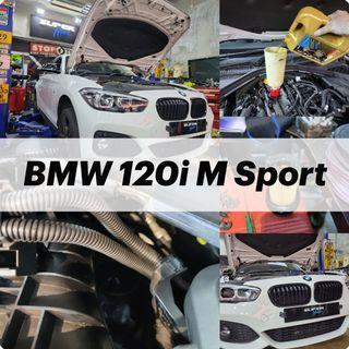 【火炭】寶馬 BMW 120i M Sport 更換引擎修復偈油 Motor Oil Change