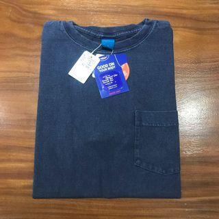 全新 Goodon 深藍口袋 Tshirt M號 5.5OZ good on