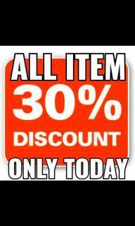 all items diskon 30%
