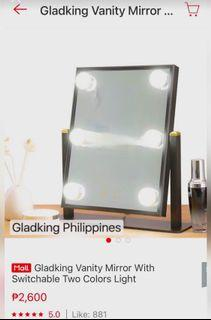 Auth💯 GLADKING Holywood Make-up 6bulbs Vanity Mirror in 2 colors