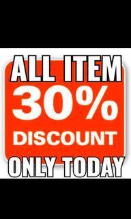 Diskon all items 30%