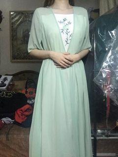 Green Vintage Embroidered dress