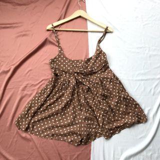 Jumpsuit brown polkadot