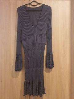 Missoni knit dress with built-in black slip dress
