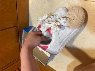 Nike Air force 全白 繽紛潑墨底經典款