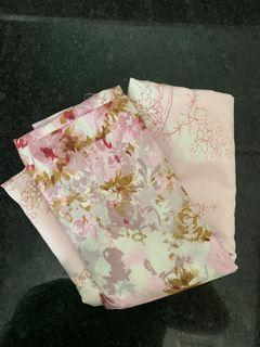 Pink floral pillow case set of 2