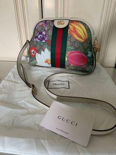 *Bagsak Sale* Preloved Gucci Floral Shoulder Bag