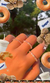 見家長必備好女孩set 串珠戒指 手工戒指