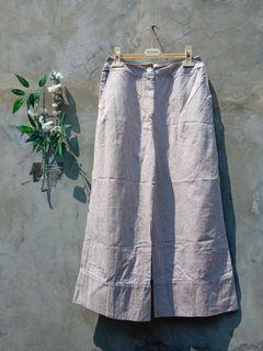 Striped kulot pants preloved