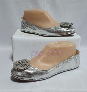 TORY BURCH Silver Ballet Flats Size 7M