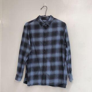 Uniqlo漸層格紋襯衫
