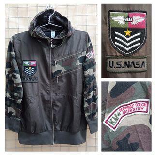 US NASA JFW30 Jaket Hoodie Fashion Army Look Preloved Original Import Korea