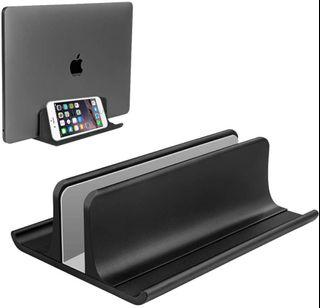 VAYDEER Vertical Notebook Stand Vertical Laptop Stand Holder Adjustable Desktop Notebook Dock Space-Saving Three-in-one for All MacBook Pro Air, Mac,HP, Dell, Microsoft Surface,Lenovo, up to 17.3 inch