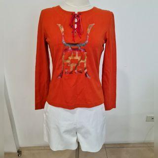 vivienne tam orange long sleeve top