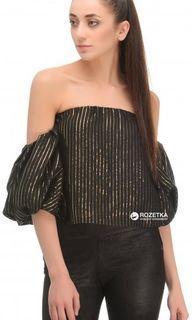 Zara black off with shoulder