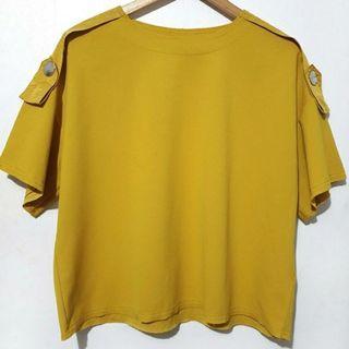 Zara mustard boxy top