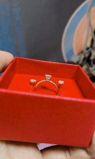 18k saudi gold ring and earrings